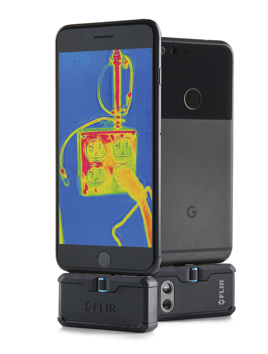 FLIR ONE PRO Attached to Phone
