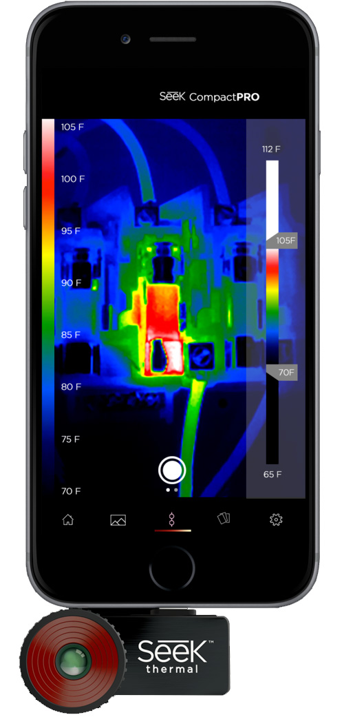 Seek Thermal Compact PRO Smartphone Thermal Camera for iOS - 9Hz
