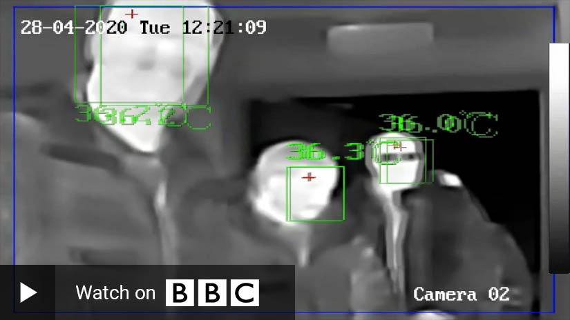 BBC News: Will thermal cameras help to end the lockdown?