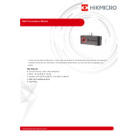 Hikmicro Mini1 Android Smartphone Thermal Module (Black) - Datasheet