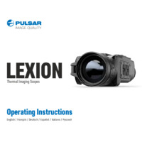 Pulsar Lexion Thermal Imaging Scopes - Operating Instructions