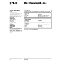 FLIR T199347ACC Hard Transport Case for FLIR's T5XX Thermal Cameras - Datasheets
