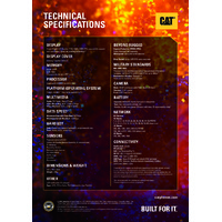 CAT S61 Smartphone with FLIR Thermal Imaging & Integrated Tools - Technical Specifications