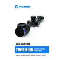 Pulsar Thermion XM & XP Thermal Imaging Weapon Scopes - Quick Start Guide
