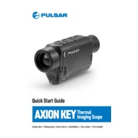 Pulsar Axion Key XM22 Thermal Imaging Scope - Quick Start Guide