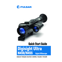 Pulsar Digisight Ultra N450 Night Vision Weapon Scope - Quick Start Guide