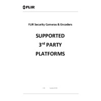 FLIR Security Cameras & Encoders - Supported 3rd Party Platforms