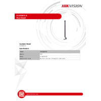 Hikvision DS-KAB671-B Floor Stand - Datasheet