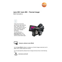 Testo 890 Thermal Camera - Short User Manual