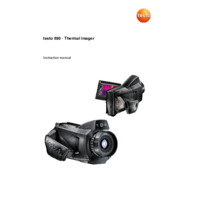 Testo 890 Thermal Camera - User Manual