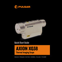 Pulsar Axion XQ38 Thermal Imaging Scope - Quick Start Guide