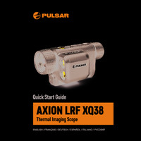Pulsar Axion LRF XQ38 Thermal Imaging Scope - Quick Start Guide