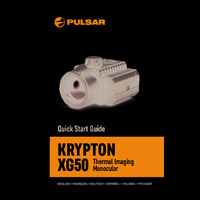 Pulsar Krypton XG50 Thermal Imaging Monocular Attachment - Quick Start Guide