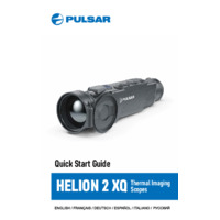 Pulsar Helion 2 Thermal Imaging Scopes - Quick Start Guide